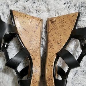 6351781e74b Franco Sarto Shoes - Franco Sarto Mendoza black wedge sandals size 10M